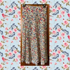 CJ Banks Midi Floral Skirt